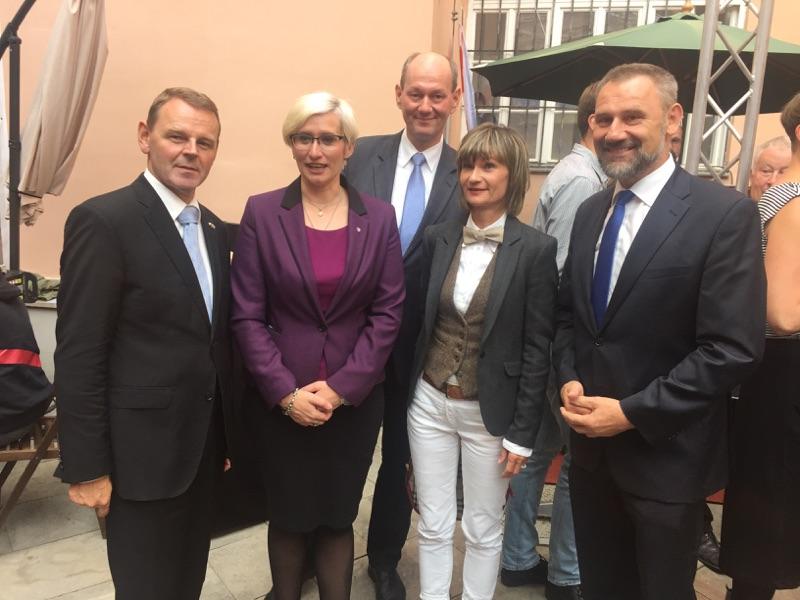 Dr. Fritz Jaeckel, Karla Šlechtová,  Harald Baumann-Hasske, Barbara Ludwig, Marko Schiemann